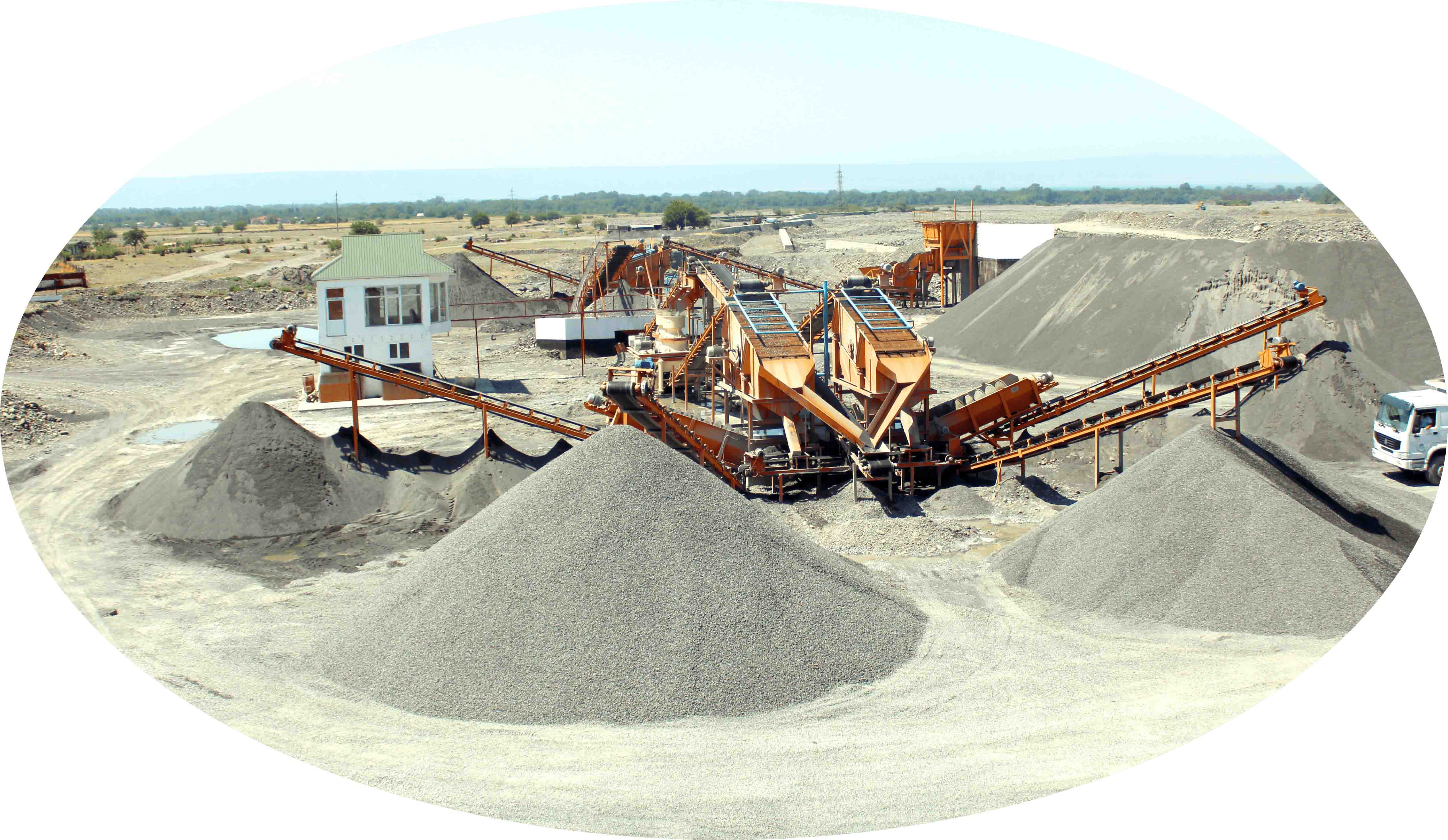 250 ton per hour mining plant project done by Teknocrusher Near Tashkent